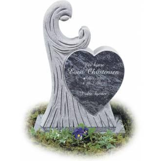 Gravstein 126 barnestein hjerte